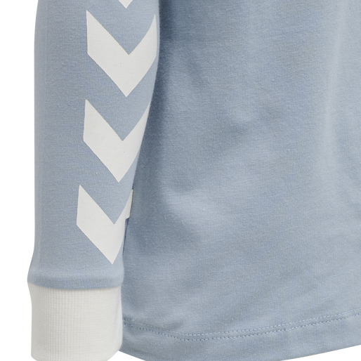 hmlMAUI T-SHIRT L/S, BLUE FOG, packshot