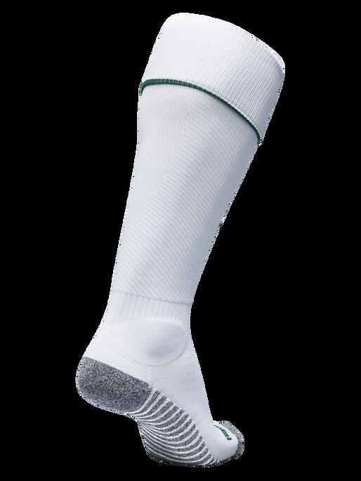 PRO FOOTBALL SOCK, WHITE/EVERGREEN, packshot