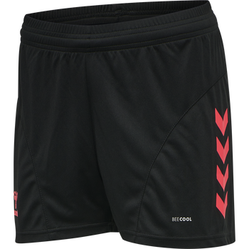 hmlACTION SHORTS WOMAN, BLACK/DIVA PINK, packshot