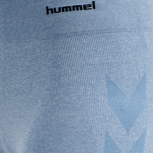 hmlCI SEAMLESS CYCLING SHORTS, FADED DENIM MELANGE, packshot