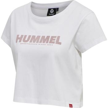 hmlLEGACY WOMAN CROPPED T-SHIRT, WHITE, packshot