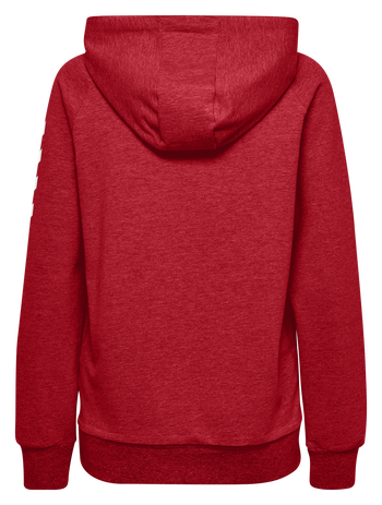 HUMMEL GO COTTON ZIP HOODIE WOMAN, TRUE RED, packshot