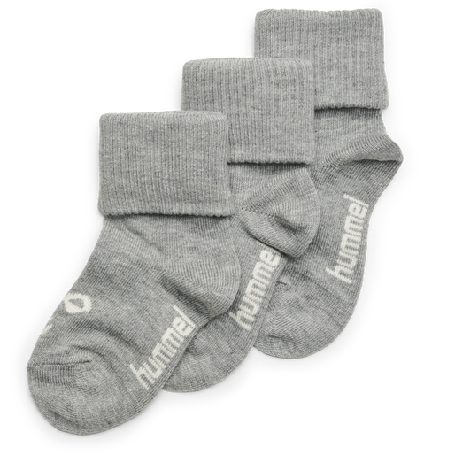 SORA 3-PACK SOCK, GREY MELANGE, packshot