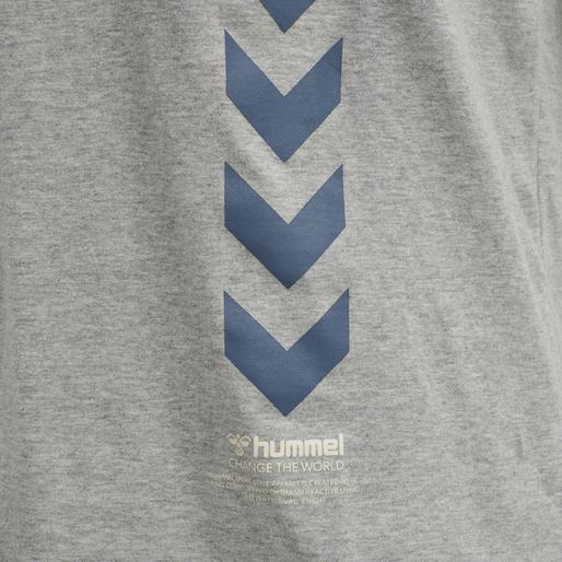 hmlCALEB T-SHIRT, GREY MELANGE, packshot