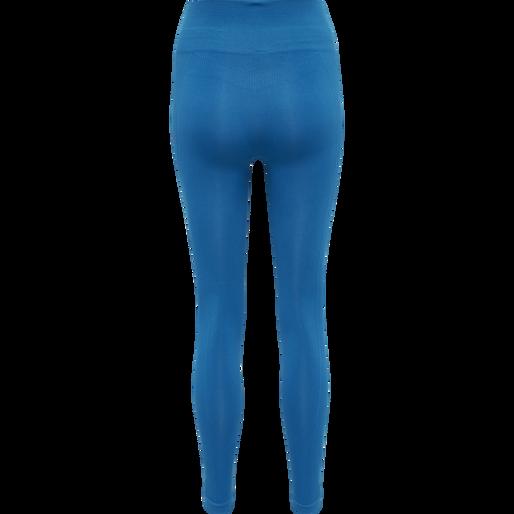 hmlTIF SEAMLESS HIGH WAIST TIGHTS, MYKONOS BLUE, packshot