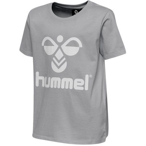 hmlTRES TEE SHIRT S/S, GREY MELANGE, packshot