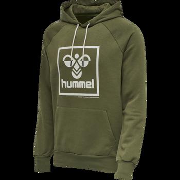 hmlISAM HOODIE, BURNT OLIVE , packshot