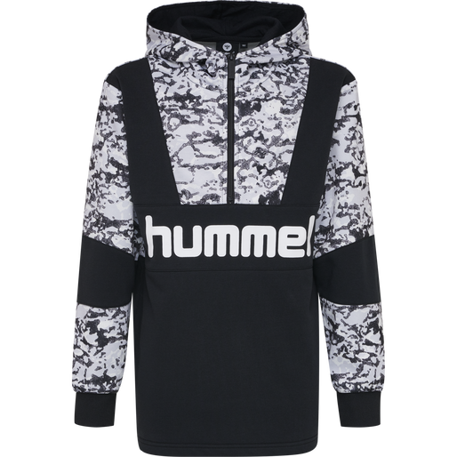 hmlRASMUS HOODIE, BLACK, packshot