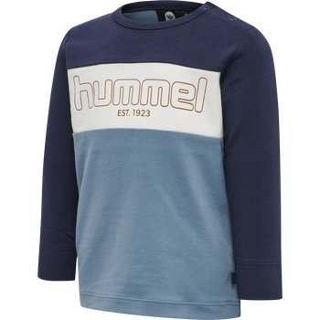 hmlNORTH T-SHIRT L/S, PROVINCIAL BLUE, packshot