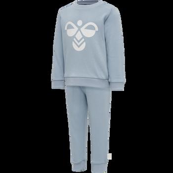 hmlARIN CREWSUIT, BLUE FOG, packshot