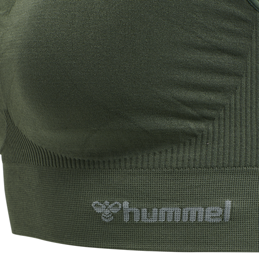hmlTIF SEAMLESS SPORTS TOP, THYME, packshot