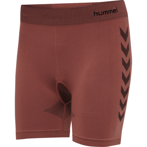 hmlFIRST SEAMLESS TRAINING SHORT TIGHTS WOMEN, MARSALA, packshot