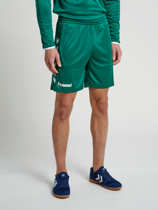 CORE POLY SHORTS, EVERGREEN PR, model
