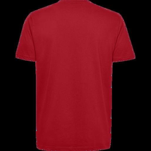 HUMMEL GO COTTON LOGO T-SHIRT S/S, TRUE RED, packshot
