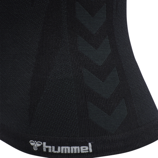 hmlCLEA SEAMLESS TOP, BLACK MELANGE, packshot