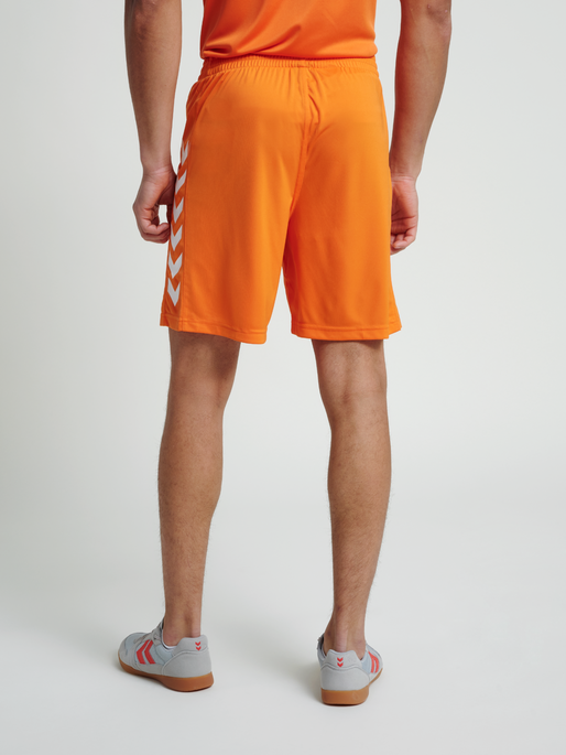 CORE POLY SHORTS, TANGERINE, model