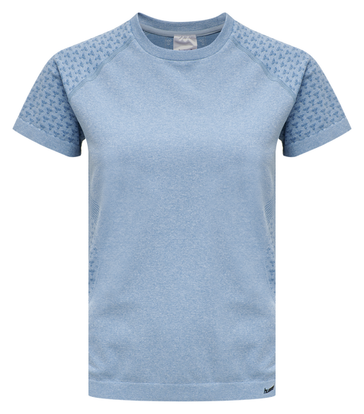hmlCI SEAMLESS T-SHIRT S/S, FADED DENIM MELANGE, packshot