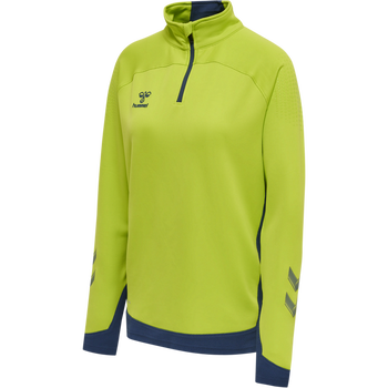 hmlLEAD WOMAN HALF ZIP , LIME PUNCH, packshot
