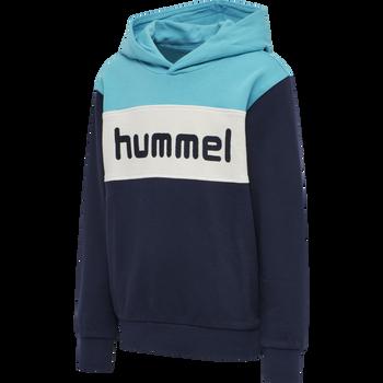 hmlMORTEN HOODIE , SCUBA BLUE, packshot
