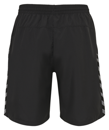 hmlAUTHENTIC TRAINING SHORT, BLACK/WHITE, packshot