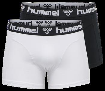 HMLMARS 2PACK BOXERS, BLACK/WHITE, packshot
