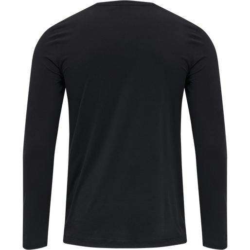 hmlVIRGIL T-SHIRT L/S, BLACK, packshot