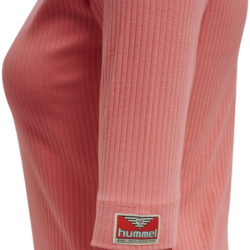 hmlBELL TURTLENECK S/S, TEA ROSE, packshot