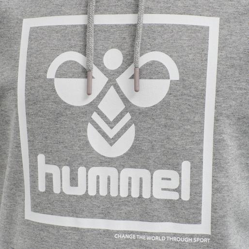 hmlISAM HOODIE, GREY MELANGE, packshot