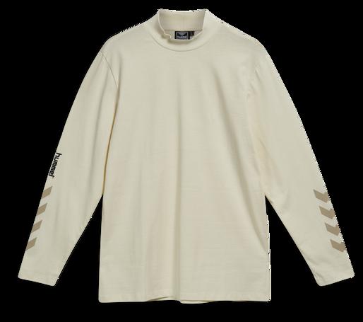hmlSUBURB T-SHIRT L/S, WHITE ASPARGUS, packshot
