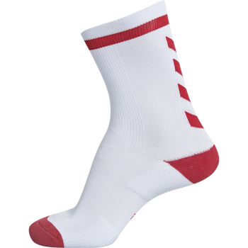 ELITE INDOOR SOCK LOW, WHITE/TRUE RED, packshot