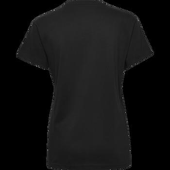 HUMMEL GO COTTON LOGO T-SHIRT WOMAN S/S, BLACK, packshot