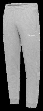 HUMMEL GO COTTON PANT, GREY MELANGE, packshot