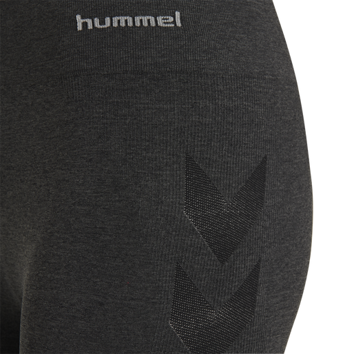 hmlCI SEAMLESS CYCLING SHORTS, BLACK MELANGE, packshot
