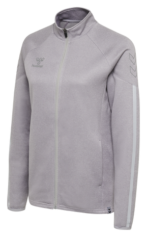 hmlCIMA ZIP JACKET WOMAN, CADET MELANGE, packshot
