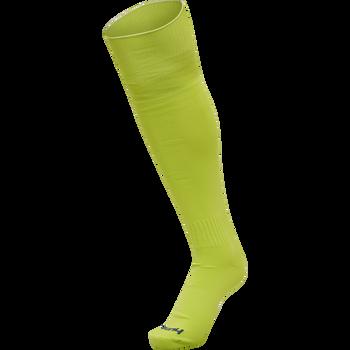 hmlPROMO FOOTBALL SOCK, LIME PUNCH, packshot