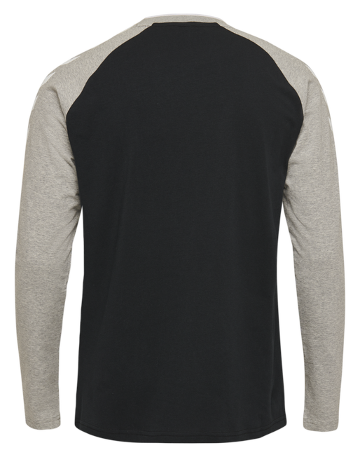 hmlMARK T-SHIRT L/S, BLACK, packshot