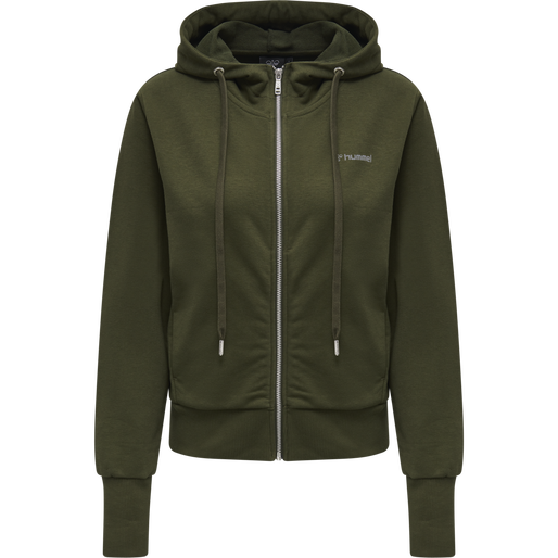 HMLBRIGI ZIP HOODIE, FOREST NIGHT, packshot
