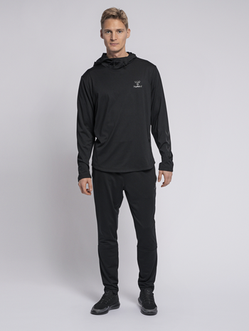 hmlASTON HOODIE, BLACK, model