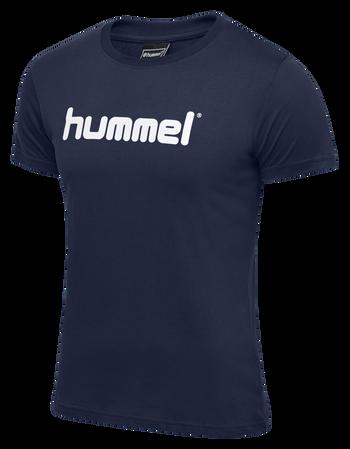 HUMMEL GO KIDS COTTON LOGO T-SHIRT S/S, INDIA INK, packshot