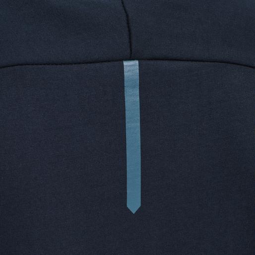 hmlACTION COTTON HOODIE, DARK SAPPHIRE/BLUE CORAL, packshot