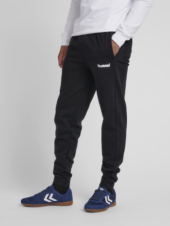 HUMMEL GO COTTON PANT, BLACK, model