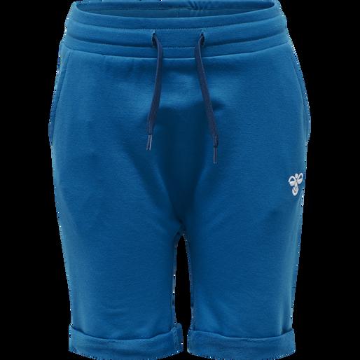 hmlFLICKER SHORTS, MYKONOS BLUE, packshot