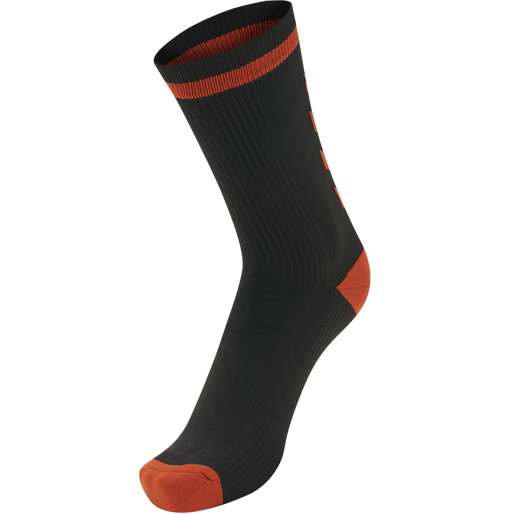 ELITE INDOOR SOCK LOW, BLACK/RED, packshot