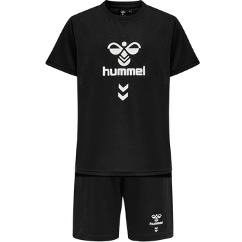 hmlMEGA FOOTBALL SHORTS SET, BLACK, packshot
