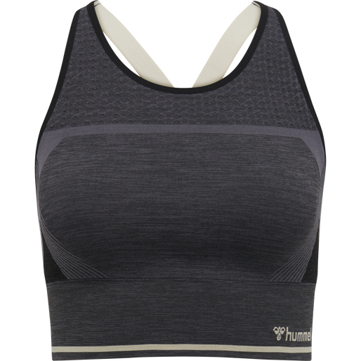 hmlSKY SEAMLESS SPORTS TOP, MAGNET/BLACK, packshot
