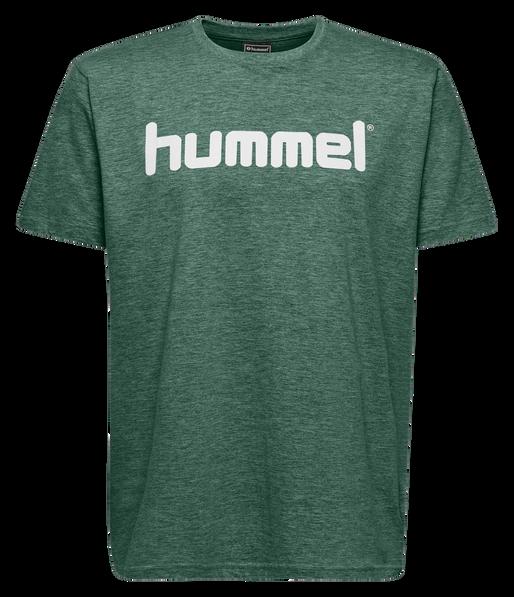 HUMMEL GO COTTON LOGO T-SHIRT S/S, EVERGREEN, packshot
