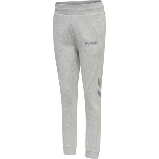 hmlLEGACY WOMAN TAPERED PANTS, GREY MELANGE, packshot