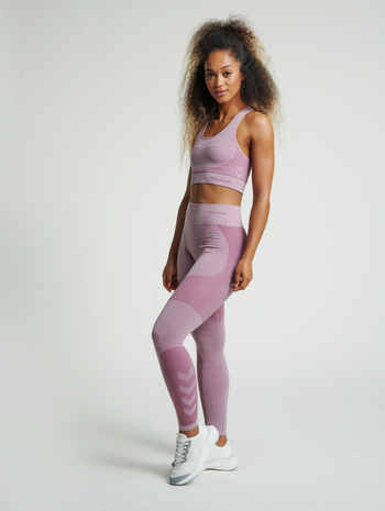 hmlROSA SEAMLESS HW 7/8 TIGHTS, DUSKY ORCHID MELANGE, model