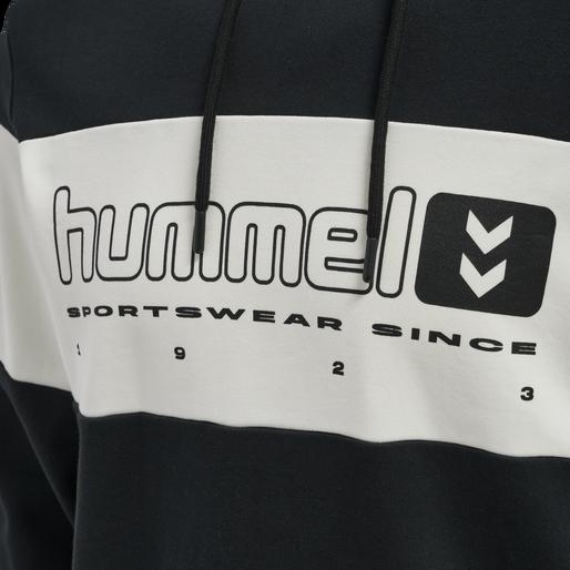 hmlLGC MUSA HOODIE, BLACK, packshot