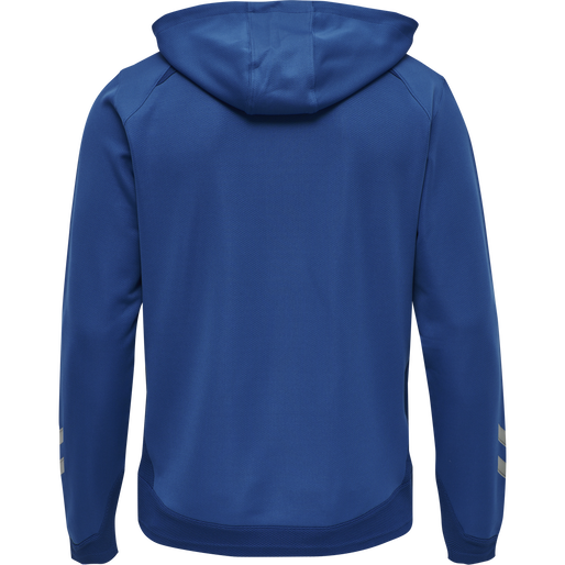 hmlLEAD ZIP POLY HOODIE, TRUE BLUE, packshot